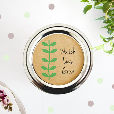 Watch Love Grow Party Favor Labels - Once Upon Supplies - 1