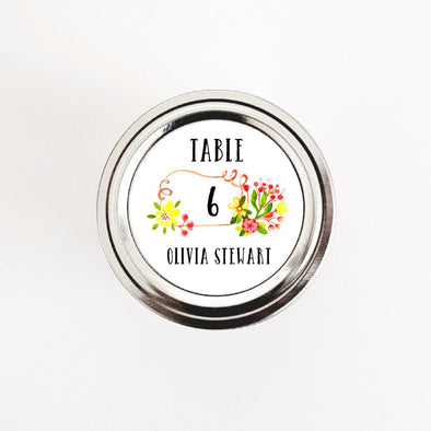 Watercolor Florals Wedding Favor Escort Cards Labels - Once Upon Supplies