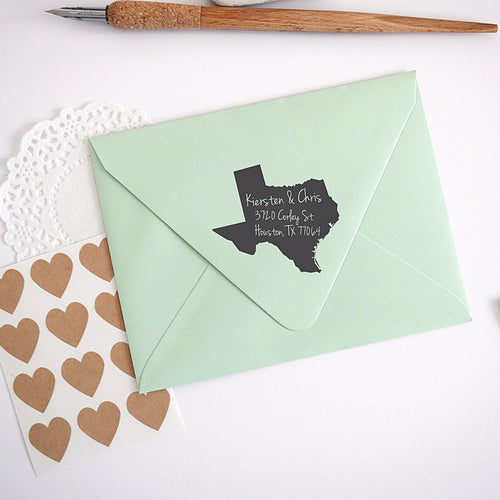 Texas State Personalized Return Address Stamp