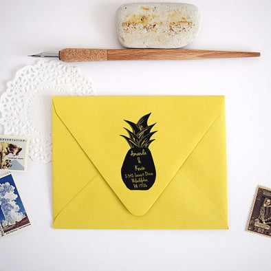 Custom Pineapple Return Address Stamp