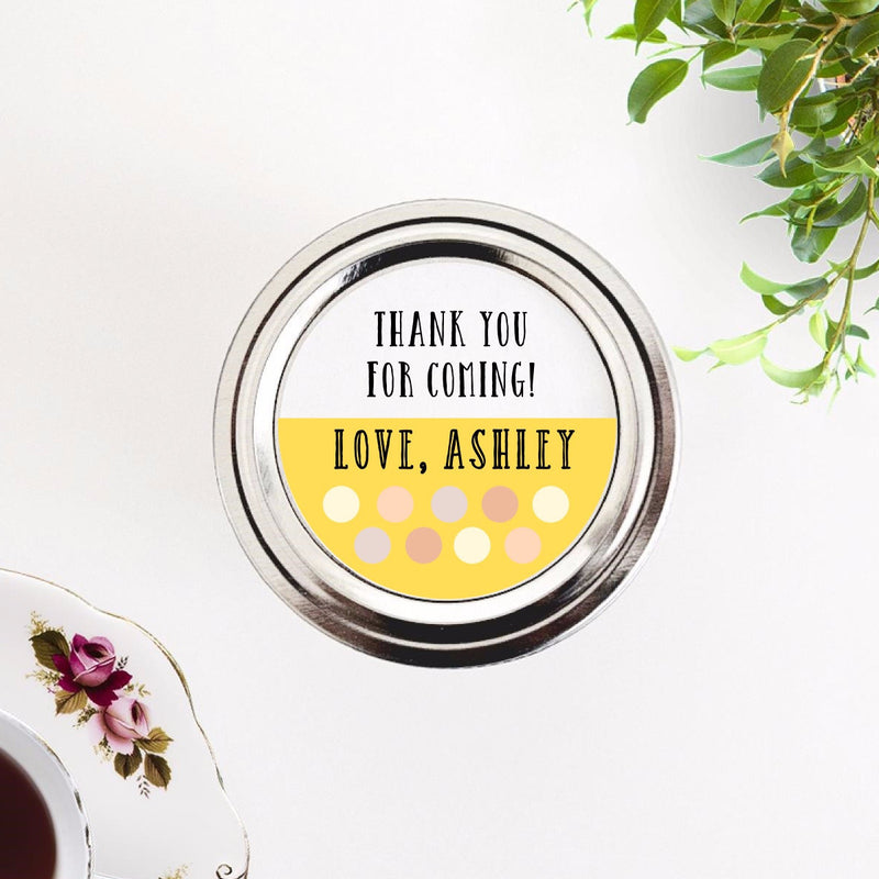 Polka Dots Thank You Labels - Once Upon Supplies - 1