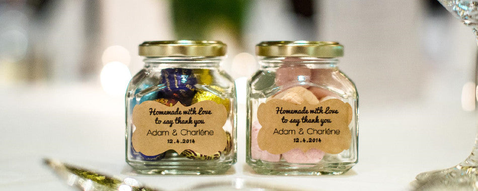 custom mason jar labels for wedding favors