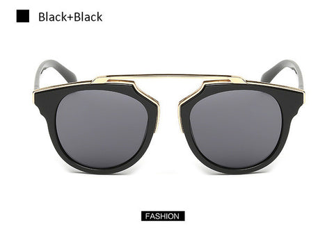 Women Brand designer Cat Eye Mirror Celebrity Sunglasses
