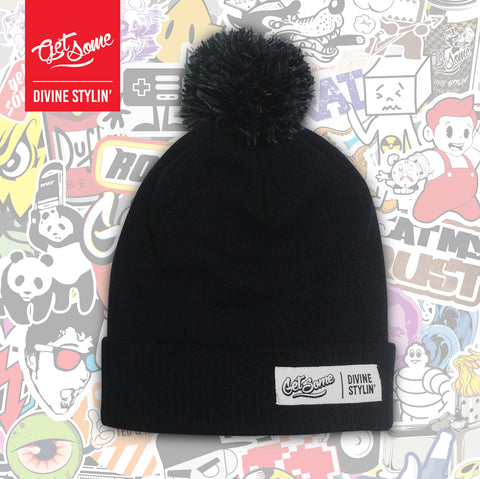 Get Some Black Pom Pom Hat