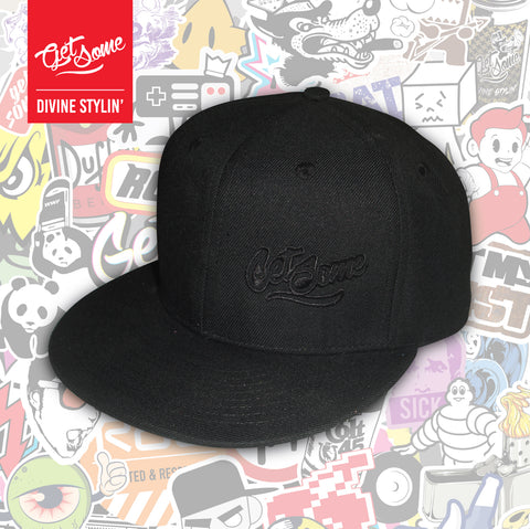 Get Some Black Snapback Cap