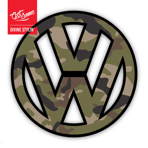 VW Green Camo Sticker