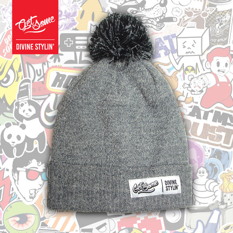 Get Some Grey Pom Pom Hat