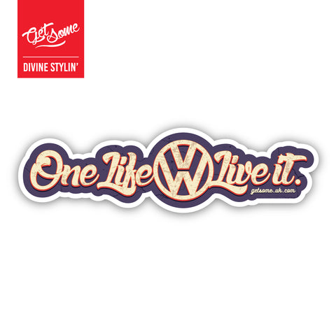 One Life Live it Sticker