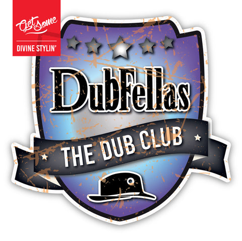 Dubfellas Blue Shield Sticker