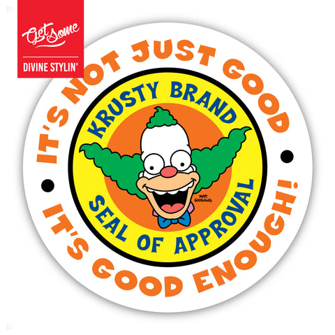 Krusty's Seal of Approval Sticker