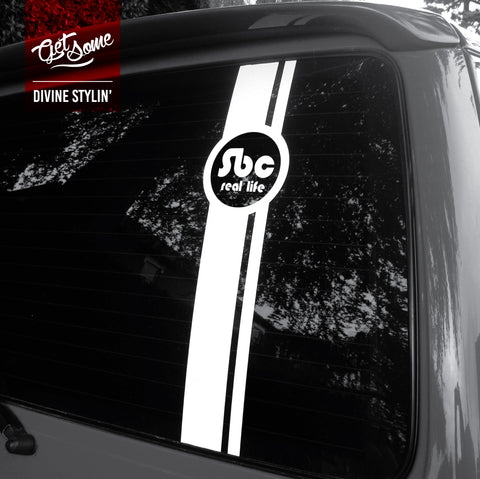 Self Build Campers Rear Window Decal