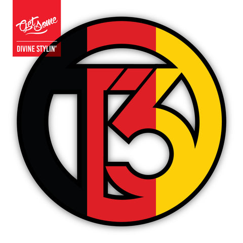 T3 German Flag Sticker