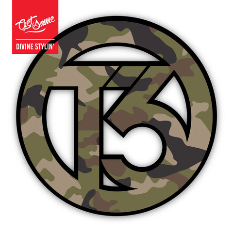 T3 Green Camo Sticker