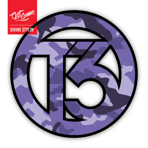 T3 Purple Camo Sticker
