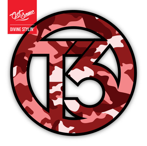 T3 Red Camo Sticker