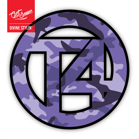 T4 Purple Camo Sticker