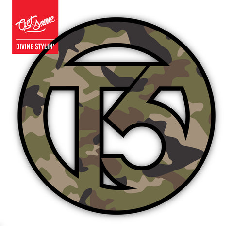 T5 Green Camo Sticker