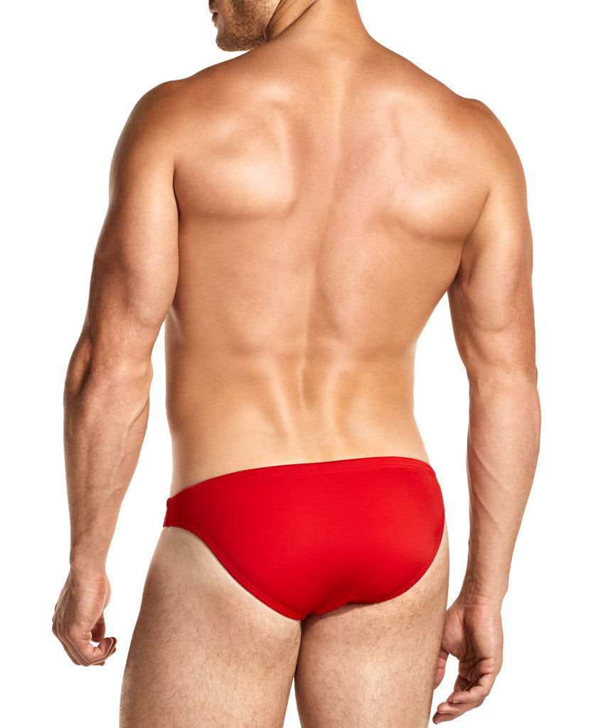 Brave Red Swim Mini-Brief Front Side