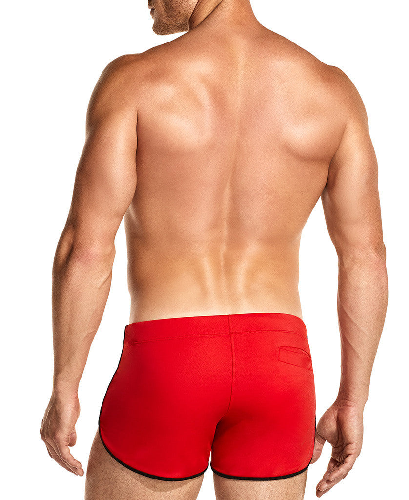 Brave Red Swim Shorts Front