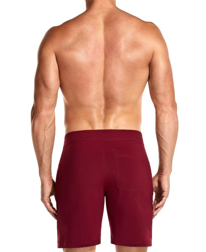 Gothic Red Flexi Boardshorts Front
