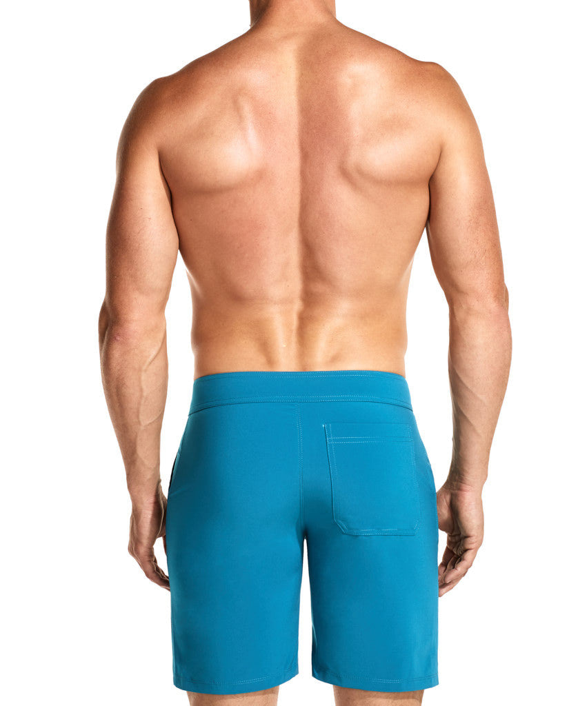 Tuned Cerulean Flexi Boardshorts Front