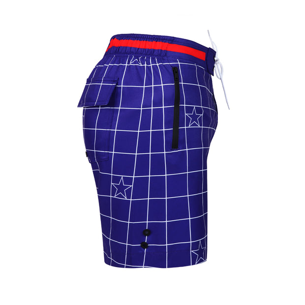 Side view of a sexy men's flex boardshort by the Bang! Clothes brand of men&