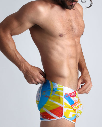 Arcade Swim Shorts Bang Clothes Men Swimwear Swimsuits lateral view right side