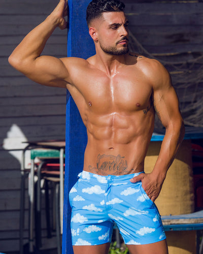 Bang Clothes ABOVE THE CLOUDS Tailored Shorts Swimsuit Men Swimwwear Beachwear 190430