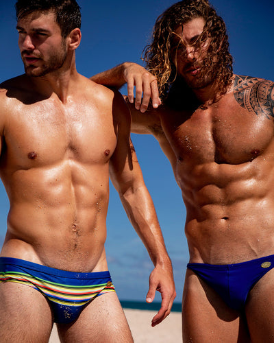 Stripe'A'Pose Dub SwimBrief Bang Clothes Men Swimwear Swimsuits