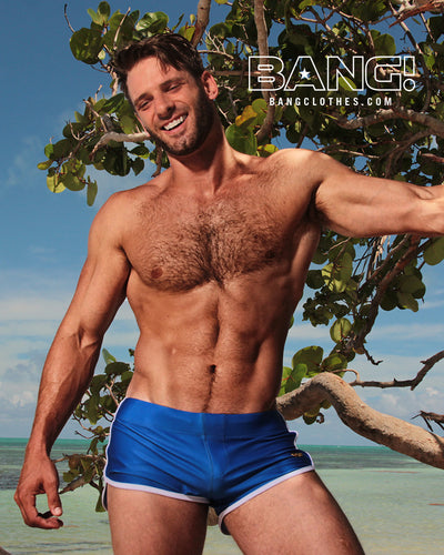 Bang Clothes Men Swimwear Blue Savannah Swim Shorts Swimsuit-Beachwear
