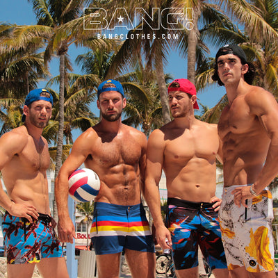 Bang Clothes Men Swimwear Dram Team Miami Heat Swimsuits