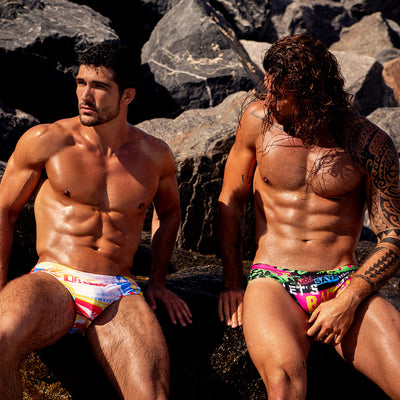 God Save The Beach SwimBrief Bang Clothes Men Swimwear Swimsuits
