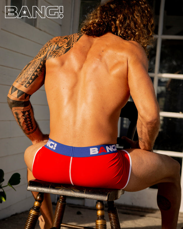 Combination of style and performance in these line of men's underwear in red and blue offers a masculine and athletic cut.