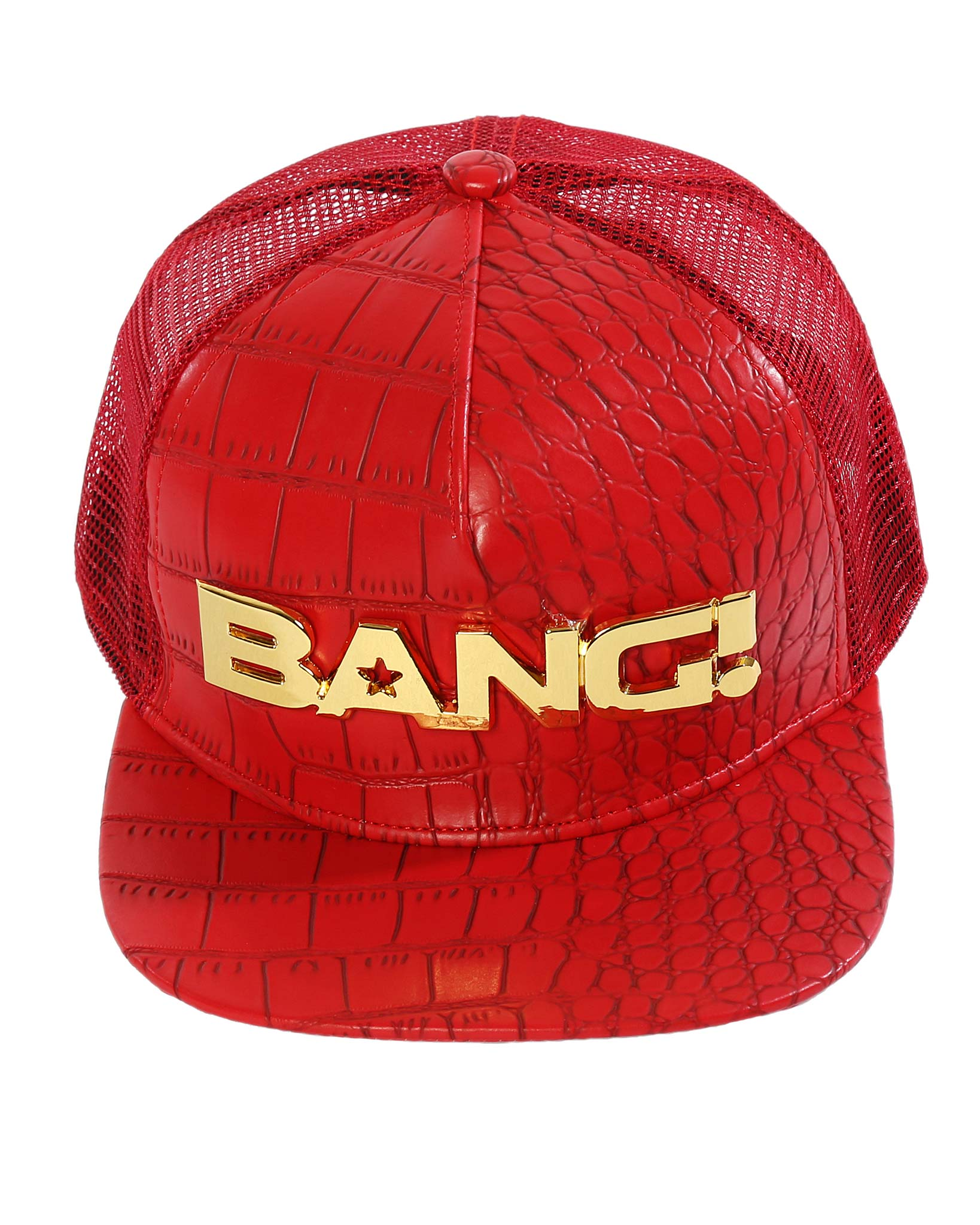 Bang Of Gold Hat (Red) Bang Clothes Beach Nightlife Gym Gear For Men Accessories