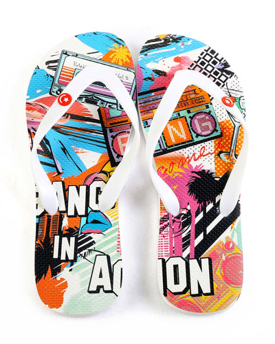 Boombox Flip Flop Bang Clothes Beach Nightlife Gym Gear For Men Accessories