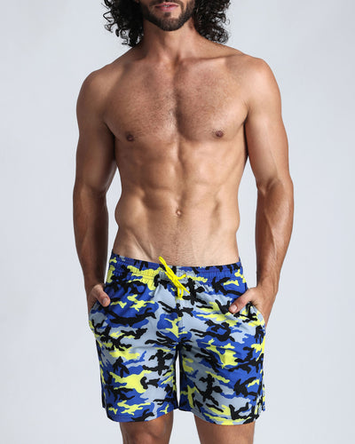 CAMO SUN Resort Shorts Bang Clothes Men Swimwear Swimsuits front view