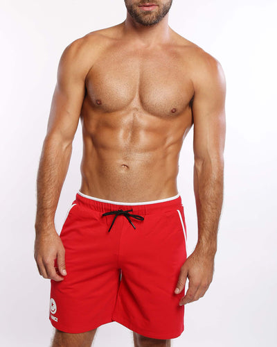 Calisthenical Shorts Red Bang Clothes Beach Nightlife Gym Gear For Men Accessories