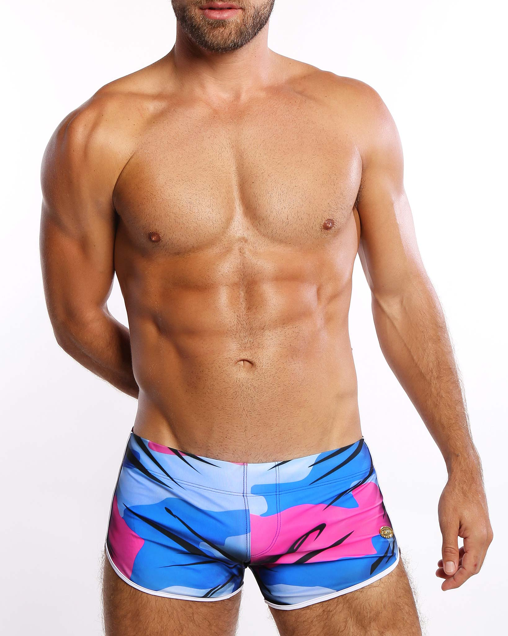 Camo-Glam <br>Swim Shorts