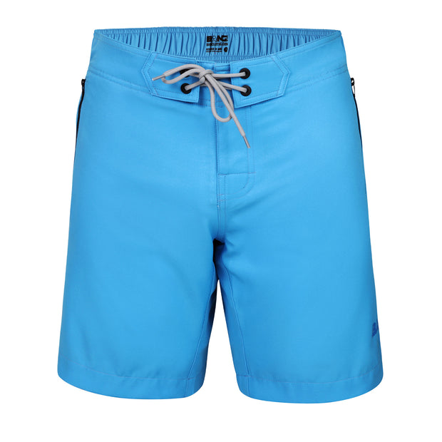 Frontal view of a sexy men's flex boardshort by the Bang! Clothes brand of men&