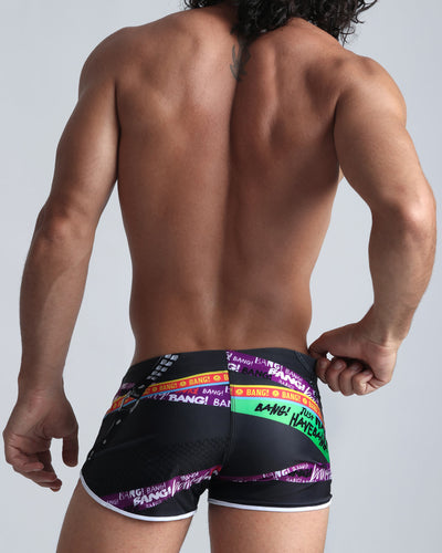 Chain Reaction Swim Shorts Bang Clothes Men Swimwear Swimsuits back view