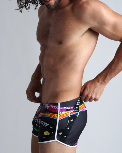 Chain Reaction Swim Shorts Bang Clothes Men Swimwear Swimsuits left side view