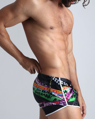 Chain Reaction Swim Shorts Bang Clothes Men Swimwear Swimsuits right side view
