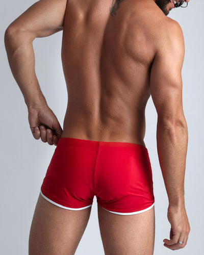 Cherry Swim Shorts Bang Clothes Men Swimwear Swimsuits rear view