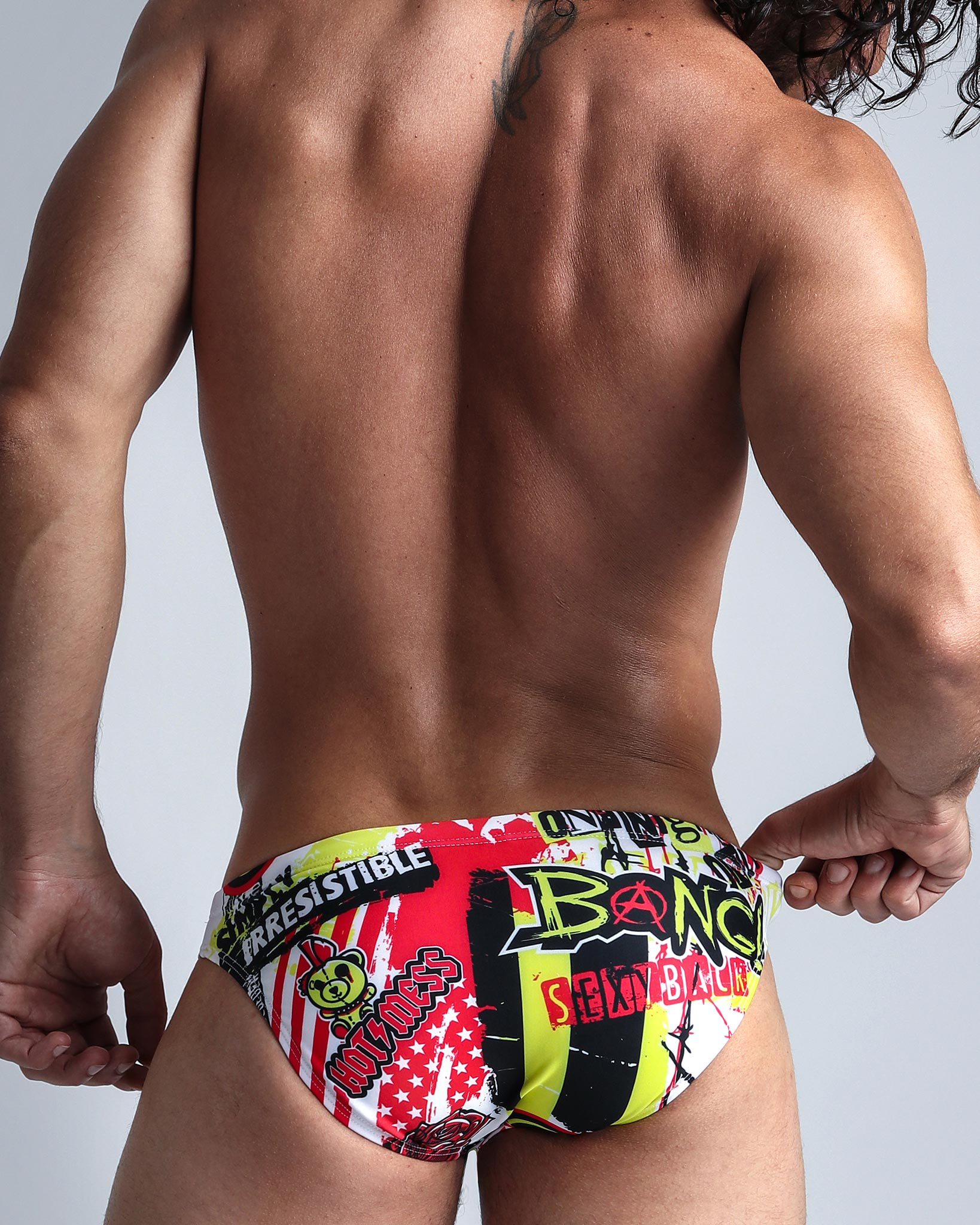 Drive Me Crazy Swim Mini Brief Bang Clothes Men Swimwear Swimsuits lateral view left