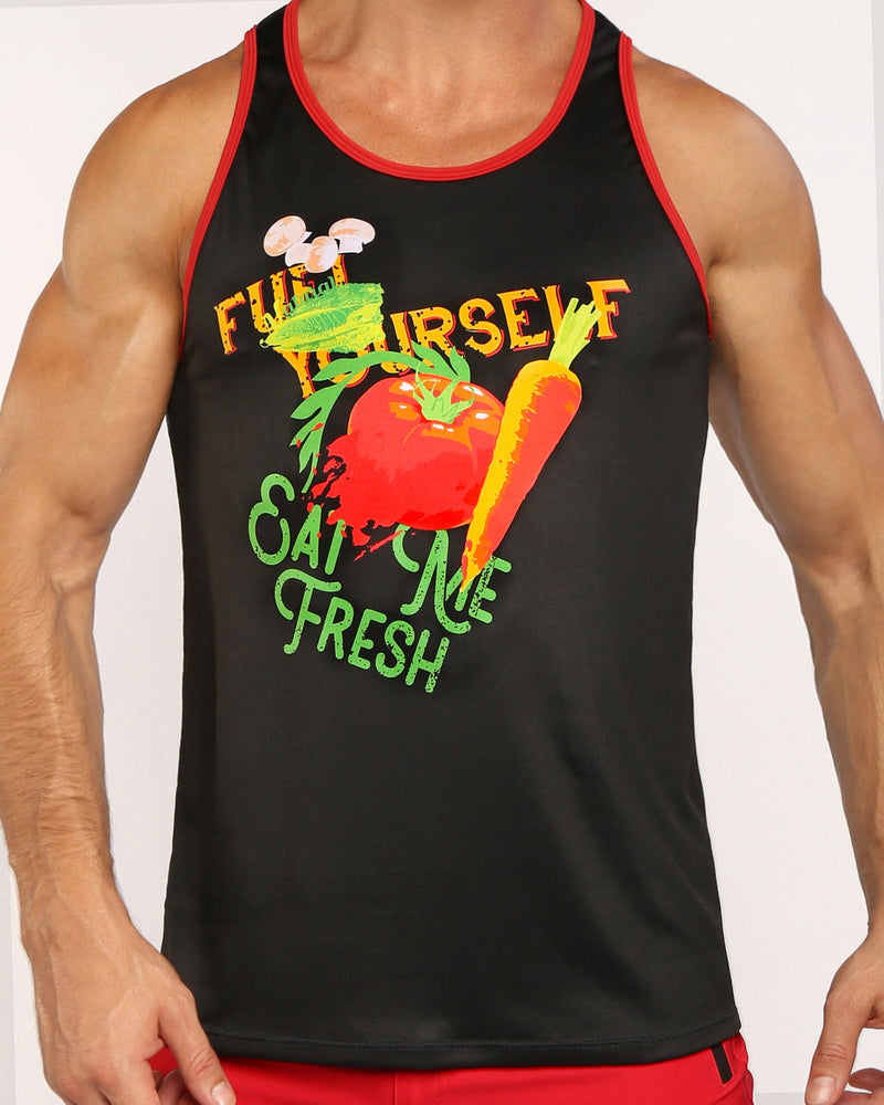 EAT ME FRESH Tank Top Bang Clothes Men Tank Tops Beach Gear editorial 2