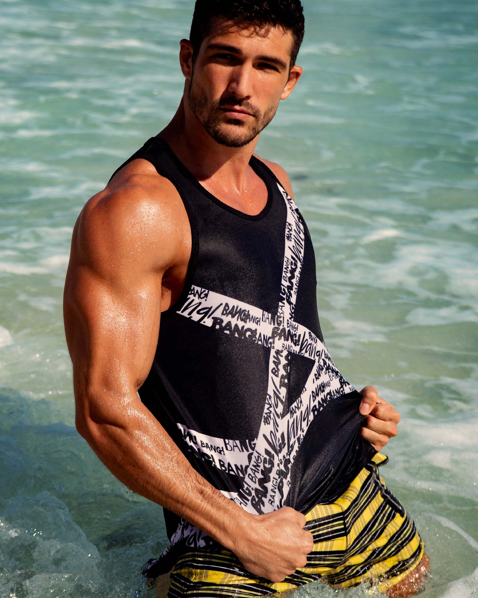 GET IT ON Tank Top Bang Clothes Men Tank Tops Beach Gear editorial