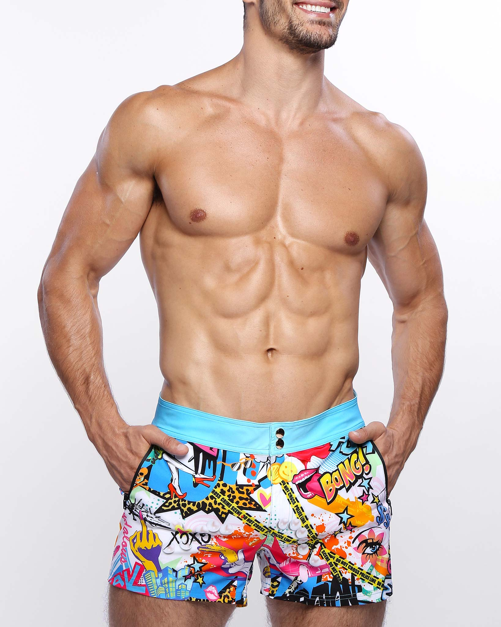 Glamify Beach Shorts Bang Clothes Men Swimwear Swimsuits