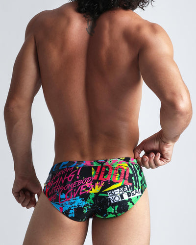 God Save The Beach SwimBrief Bang Clothes Men Swimwear Swimsuits back side
