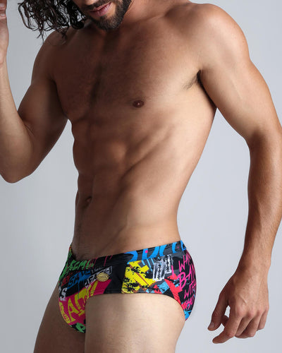 God Save The Beach SwimBrief Bang Clothes Men Swimwear Swimsuits left side