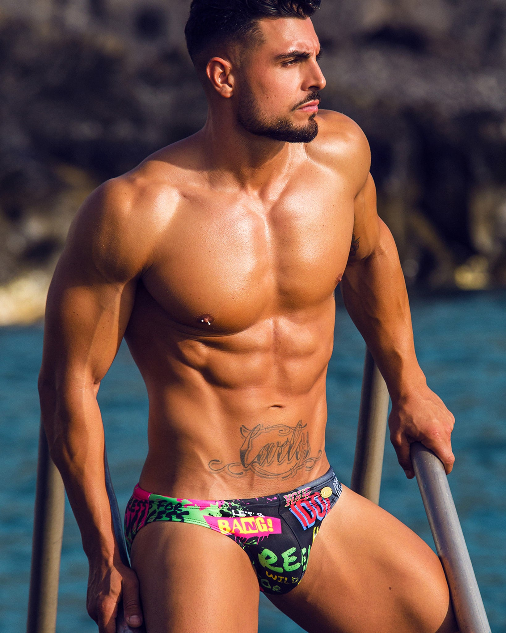 Idol Swim Mini Brief Bang Clothes Men Swimwear Swimsuits editorial 1